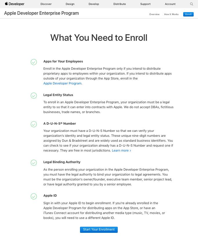 How To Get An Apple Enterprise App Developer License