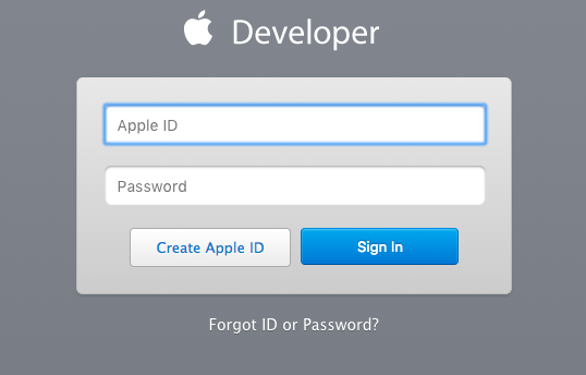 click on this create apple id button