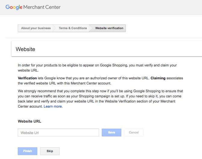 how to set up google merchant account
