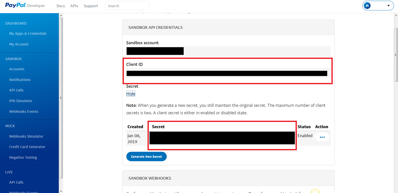 How to get PayPal Client ID and Secret Key