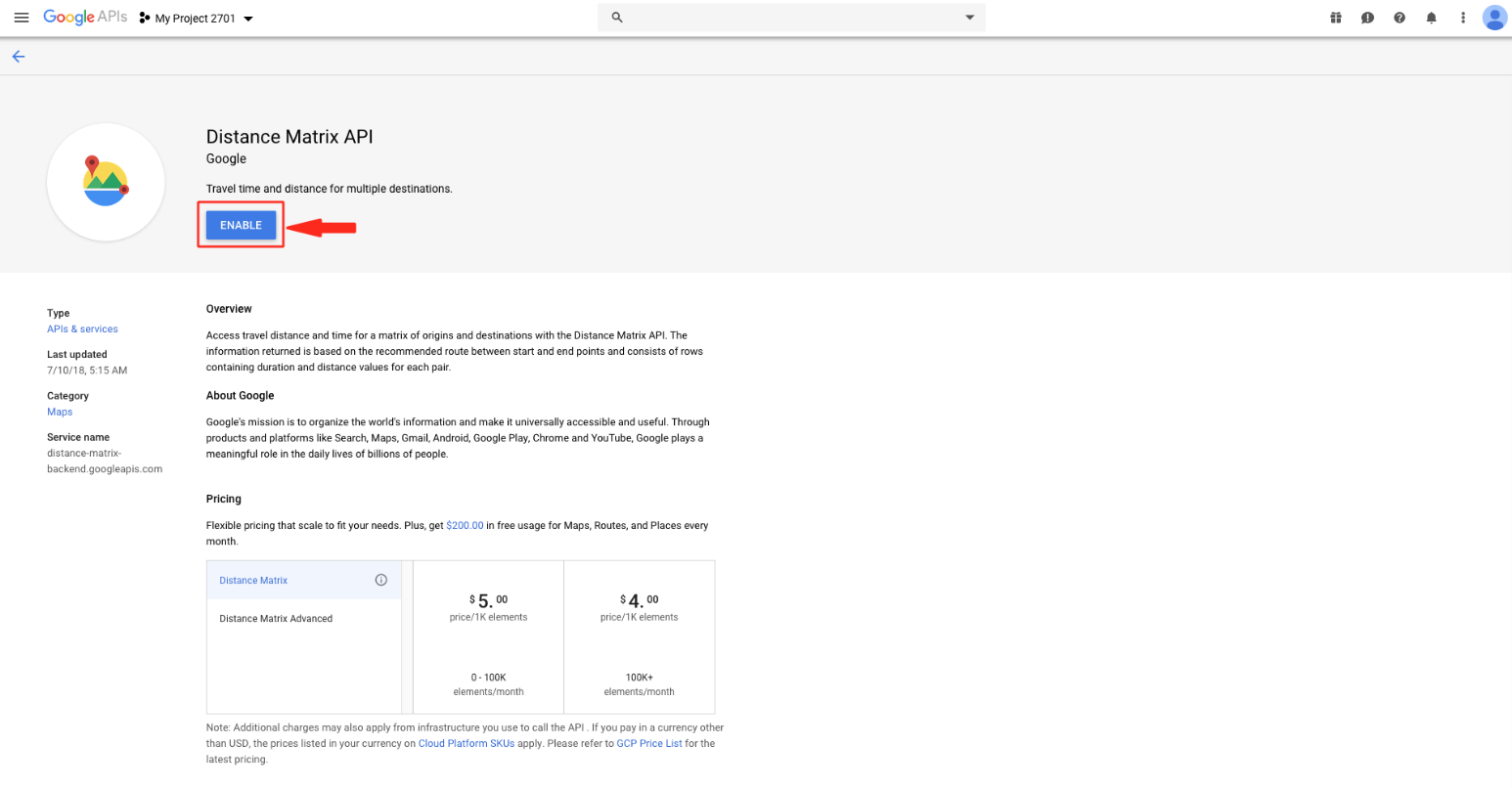 How to Enable Google API Key