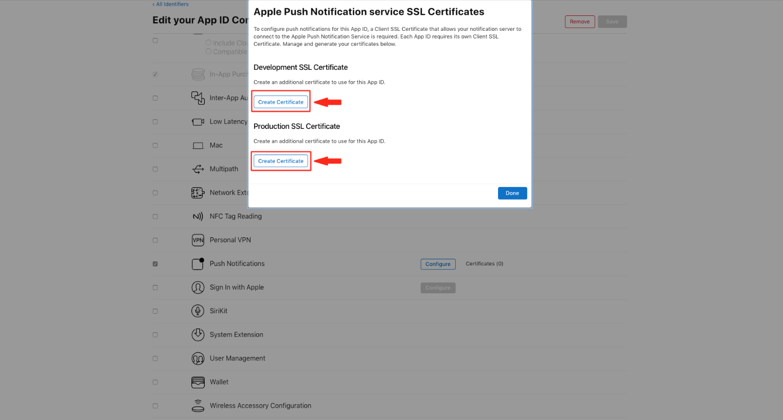 How To Setup your APN Development SSL Certificate and
