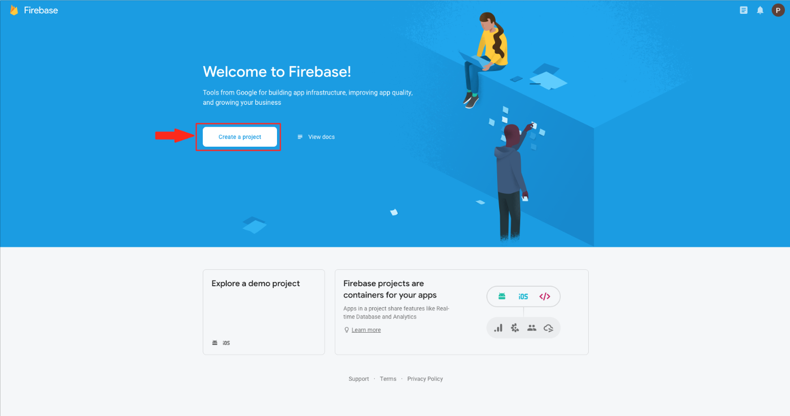 How to setup Firebase database for enabling chat in your