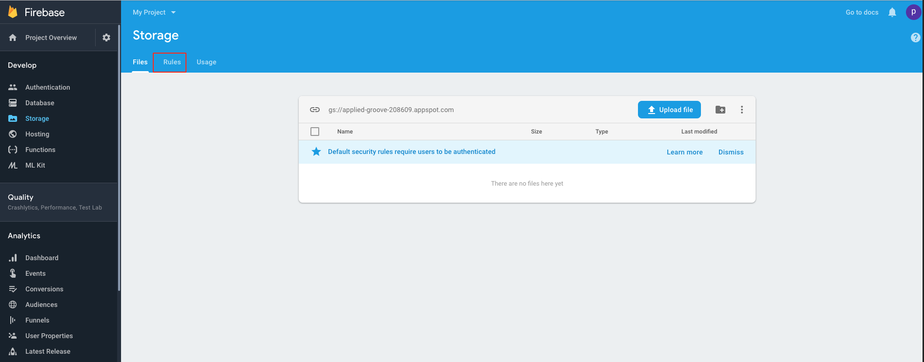 How can I get API Key, Auth Domain and Database URL from my Firebase