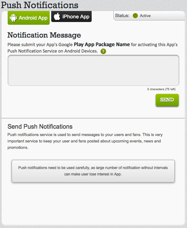 How to send push notifications on Appy Pie Platform?
